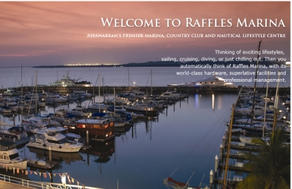 An open welcome to Raffles Marina