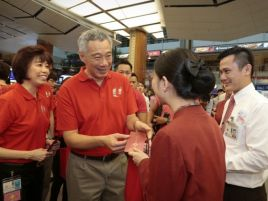 LHL visiting Changi Airport