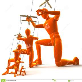 marionettes-figures-puppets-strings-one-puppet-holding-playing-next-dependently-d-rendering-isolated-white-35053846